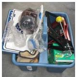 Plastic Carrying Storage With Content