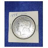 1898 Morgan Dollar. Uncirculated P.mint 90% Silver