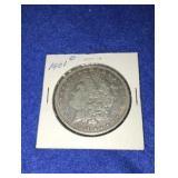 1901 Morgan Dollar. Uncirculated O.mint 90% Silver
