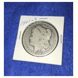 1901 Morgan Dollar. Uncirculated S.mint 90% Silver