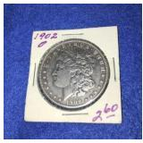 1902 Morgan Dollar. Uncirculated O.mint 90% Silver