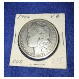1902 Morgan Dollar. Uncirculated P.mint 90% Silver