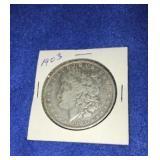 1903 Morgan Dollar. Uncirculated P.mint 90% Silver