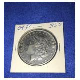 1904 Morgan Dollar. Uncirculated P.mint 90% Silver