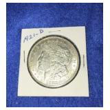 1921 Morgan Dollar. Uncirculated D.mint 90% Silver