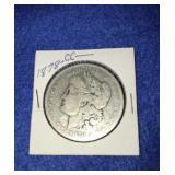 1878 Morgan Dollar. Uncirculated Cc. Mint Silver