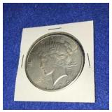 1925 Peace Dollar. Uncirculated P. Mint Silver