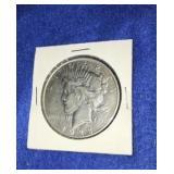 1923 Peace Dollar. Uncirculated D. Mint Silver
