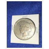 1934 Peace Dollar. Uncirculated D. Mint Silver