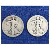 Two1934 Walking Liberty Half Dollar P&d Mint