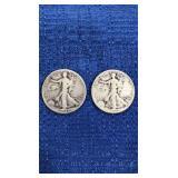 Two1941 Walking Liberty Half Dollar P Mint