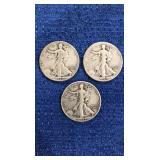 Three1942 Walking Liberty Half Dollar P&s Mint