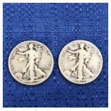 Two1935 Walking Liberty Half Dollar P Mint