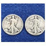 Two1940 Walking Liberty Half Dollars P Mint