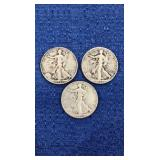 Three1946 Walking Liberty Half Dollars P,d,s Mint