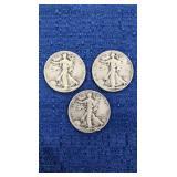Three1946 Walking Liberty Half Dollars P Mint