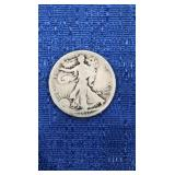 Walking Liberty Half Dollar 1917-d Mint On Reverse