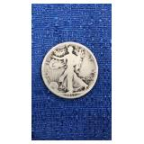 Walking Liberty Half Dollar 1917-d Mint Of Reverse
