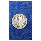 Walking Liberty Half Dollar 1916-d Mint On Reverse