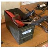 Metal Ammo Box With Content