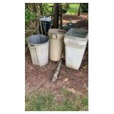 Trash Cans And Well Pump