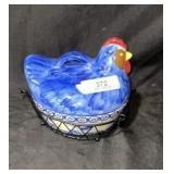 Hen In A Basket