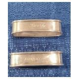 Sterling Napkin Rings