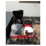 Coffee Maker And Supplies