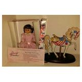 Doll And Horse Figure