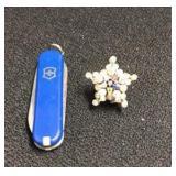 Masonic Pin And Swiss Army Knife