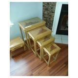 Oriental Style Nesting Tables