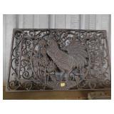 cast iron chicken decorative piece