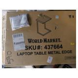 World Market laptop table w/metal edge