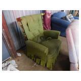 green reclining chair