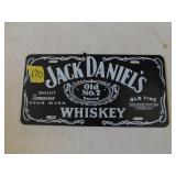 """Jack Daniels"" plastic lisence plate"
