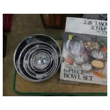 (6) piece stainless steel bowl set