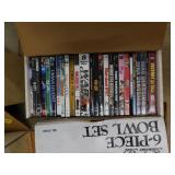 box lot of dvds