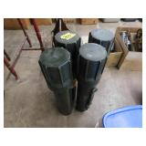 (4) plastic mortar shells