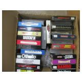 box lot of VHS tapes