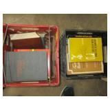 2 crates of books
