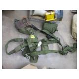 parachute harness & canvas bags