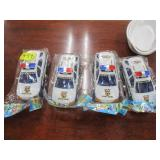 new (4) Police Patrol toy cars