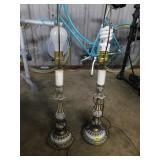 pair of lamps w/o shades