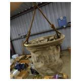 vintage cloth bucket