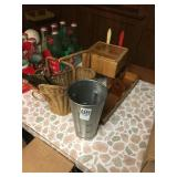 Miniature Butcher Block Tables and bar accessories