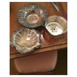 Silver plate and bowls