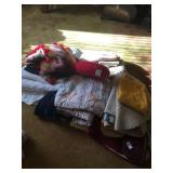 Blankets, quilts, table clothes, rugs