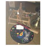 Loom and hand painted frying pan
