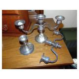 2 piece sterling Candle holders
