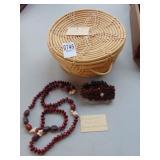 Puerto Rican grass blanket, Cuban seed bracelets